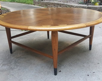 Lane Acclaim Mid Century Danish Style Round Coffee Table