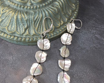 Cascade of Keishi Pearls on Sterling