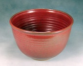 10 Cup Rust Red Large Ceramic Serving Bowl Wheel Thrown Pottery Bowl 1