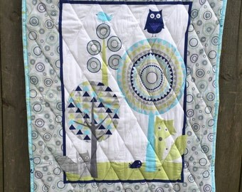 Peekaboo Forest Baby Quilt FREE SHIPPING