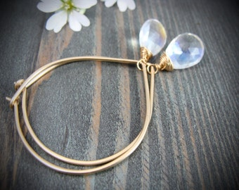 starlight ... mystic quartz hoops