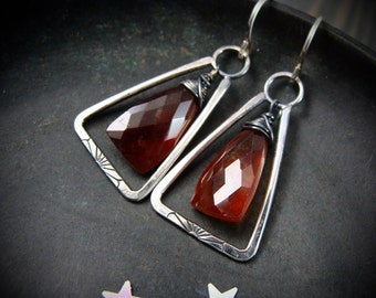 sangreal ... hessonite garnet earrings ... *limited production*