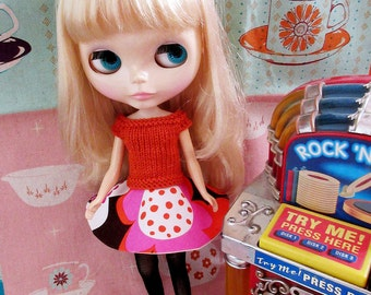 SUMMER SALE   Fifties Sweater Girl and  Circle Skirt Rock n Roll Jive Set - Orange