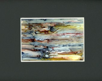 Alcohol ink art, Geological Abstraction, contemporary art,  alcohol ink painting