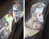 Beyonce Formation hand-painted earrings - double sided