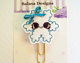 Snowflake Winter Christmas Planner Clip, Bookmark, Planner Accessory, Paper Clip