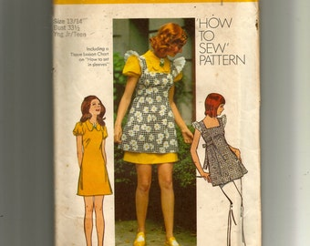 Simplicity Young Junior/Teens' and Misses' Smock and Mini-Dress Pattern 5465