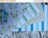 40% FLASH SALE- Fat Quarter Bundle- Springtime Garden-Reclaimed Bed  Linens