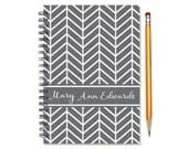 Personalized 2016 weekly planner, 2017 planner, Start any month, 12 month engagement calendar, chevron planner book, SKU: pli chev sc