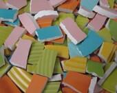 Mosaic Tiles Mixed Media Pieces Hand Cut Broken Plate Assortment Colors Mix Sherbert
