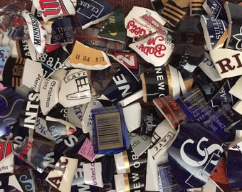 Mosaic Tiles Mixed Media Pieces Hand Cut Broken Plate Assortment Mix Words Maker Marks ads Letters