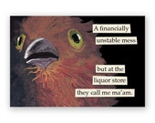 Liquore Store Magnet - Bird - Humor - Gift - Stocking Stuffer - Mincing Mockingbird