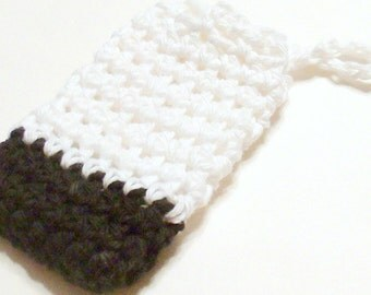 Crochet Soap Saver, Cotton Soap Saver, Black White Soap Saver, Crochet Soap Sack, Crochet Soap Bag, Reusable, Ecofriendly
