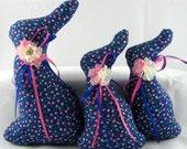 Stuffed Bunny, Easter Bunny, BUNNY Tuckin Set of 3, Bunny Tucks, Bunny Ornament, Bunny Decor, Easter Ornament
