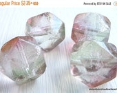25% OFF Sale Pink Crystal Luster Czech Glass Beads 16mm English Cut - You Choose Quantity
