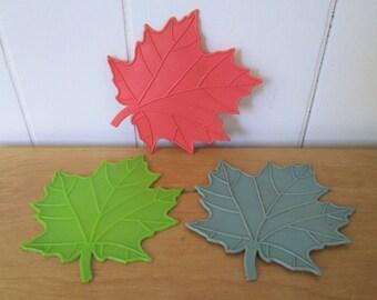 vintage maple leaf coasters