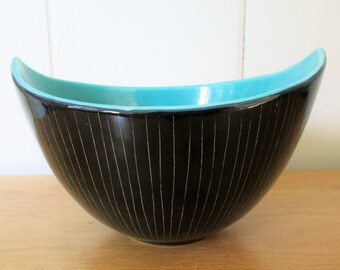 vintage mid century bowl numbered Italy