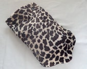 Leopard Print Plush Hot Water Bottle Cover