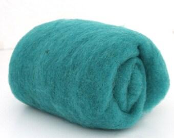 Felters Batts Carded Wool Batt for Felting Norwegian Blended Wool 300g in Teal