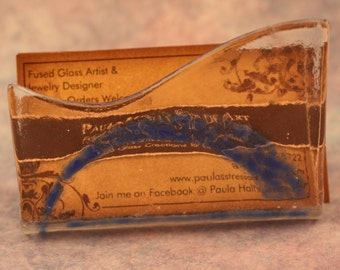Fused Glass Business Card Holder No. 53