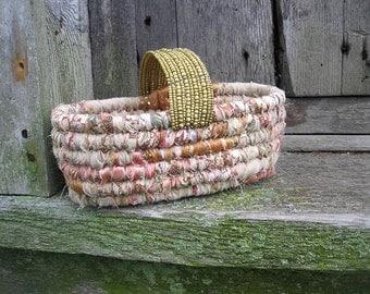 BRACELET COLLECTION  textile art small storage  Basket Number twenty three