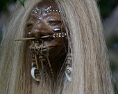 Shrunken Head, Blonde, Hand Sculpted, Mere Immortal, One of a Kind