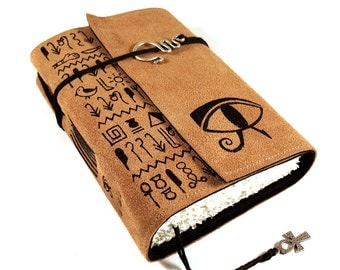 Leather Journal, handmade, Eye of Horus