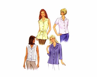 Misses Top and Belt Butterick 3848 Sewing Pattern Size 8 - 10 - 12 Bust 31 1/2 - 32 1/2 - 34 Uncut