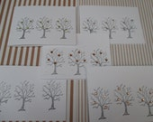 pack of 5 Rhinestone Trees Christmas cards