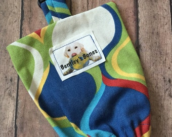 Doggie Leash Bag - Retro Bold
