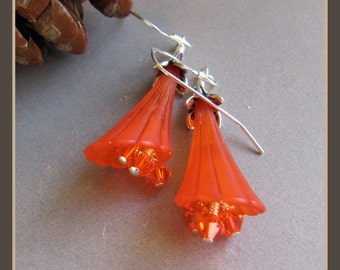 Autumn Winter Sunset Lucite Earrings