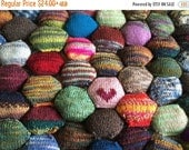 Christmas in July SALE Beekeeper Quilt Starter Kit, Craft Kit, DIY gift, mini skeins, knit quilt scrap quilt hexipuff knitting gift, sock ya