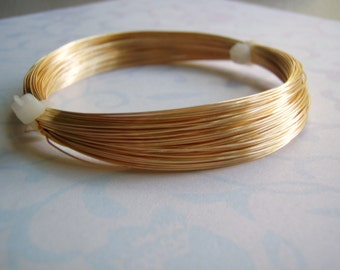 Gold Plated Wire Round Half Hard Jewelry Wire COILED 20 To 26 Gauge
