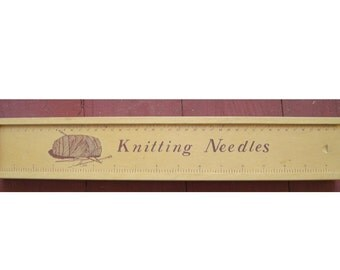 Vintage Knitting Needle Case plus Collection of Wooden Knitting Needles