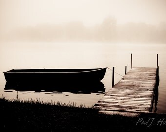 Boat in the Mist Photographic Print
