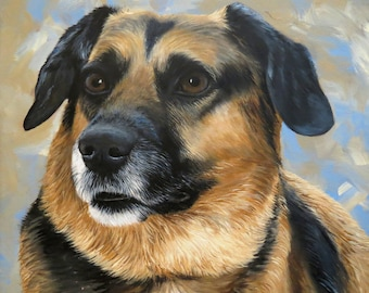 Commissioned Pet Portrait Painting 11x14 Hand Painted Your Pet any Animal Dog Cat or Horse