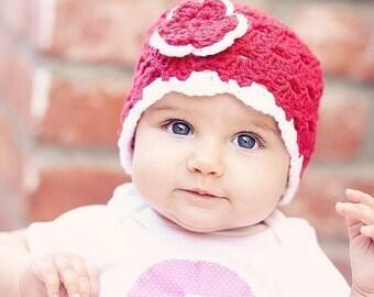 Newborn Crochet Hat, Crochet Baby Hat, Baby Girl Hat, Baby Newborn Hat, Off White Rose, Newborn Baby Hat, Crochet Hat, Newborn Photo Prop