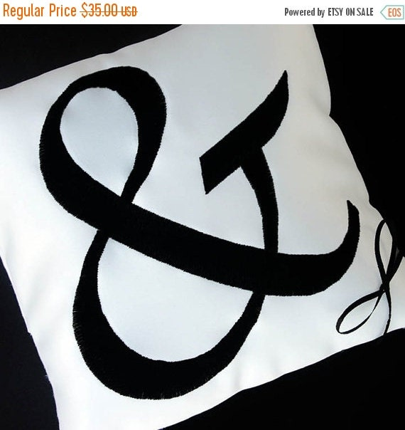 February Feature Sale Wedding Ring Pillow with Custom Ampersand-any color