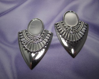 Breast Plate Tribal Shield Silver Tone 18x13 Cabachon Setting Stamping on Etsy--Quantity Choice