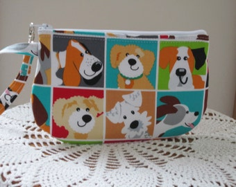Dogs and Doggies Clutch Bag, Wristlet, Zipper Camera Bag Pouch, Smart Phone Bag