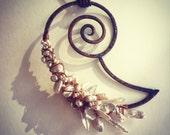Copper & Heishi Pearl Nautilus Pendant