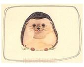 Hedgehog Print - Art - Art Print - 8x10 Hedgehog Print - Animal Art - Hedgehog - 8x10 Print - Watercolor - Wall Art - Home Decor - Hedgehog
