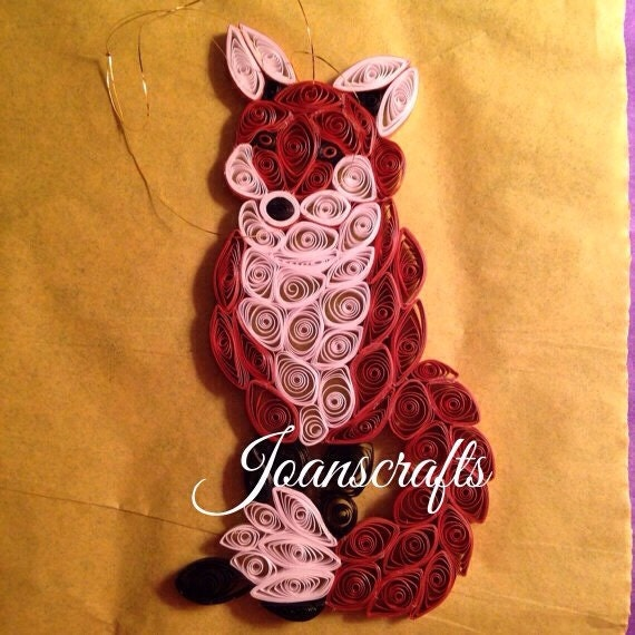 Quilled Fox Ornament