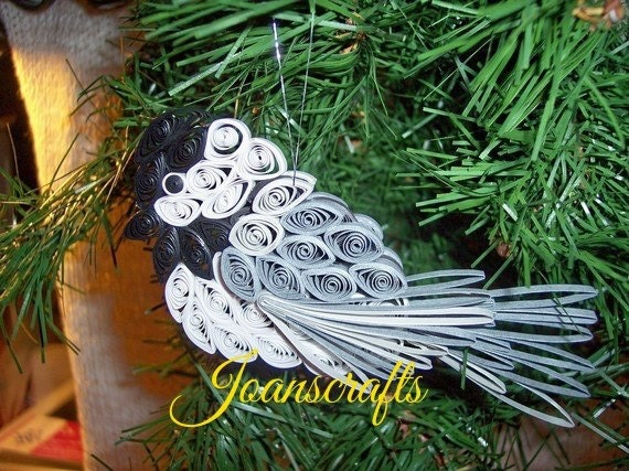 Quilling, Chickadee Ornament