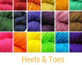 Heels and Toes Mini Skeins - mini hanks hand dyed to order