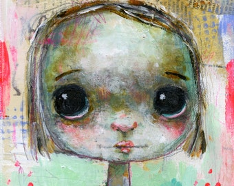 Primitive Portraits 3 online class - by Mindy Lacefield