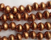 10 Ethiopian Copper beads, copper beads, copper spacers, African beads, Ethiopian beads, metal beads, metal spacers