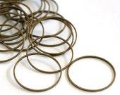 25pcs 25mm Antique Bronze Smooth Brass Rings EC18725-NFAB
