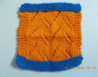 Handknit Lacy Washcloth/Dishcloth