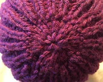 Maroon Hand Knit Hat